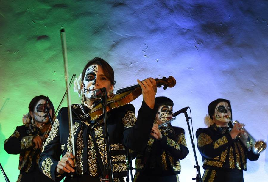 Mariachi Group On Day Of The Dead Festival