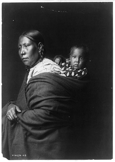 Oglala With Child