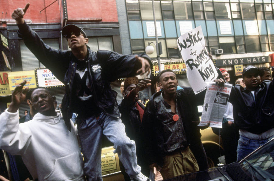 Rodney King Protesters Street