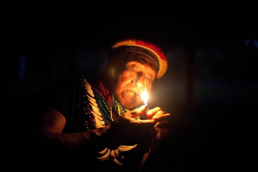 Shaman Smoking