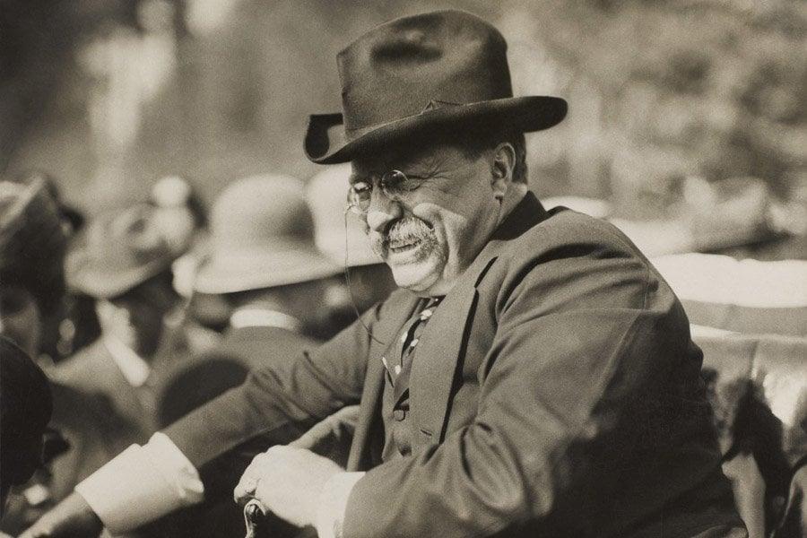 Roosevelt Speech Smiling In Car