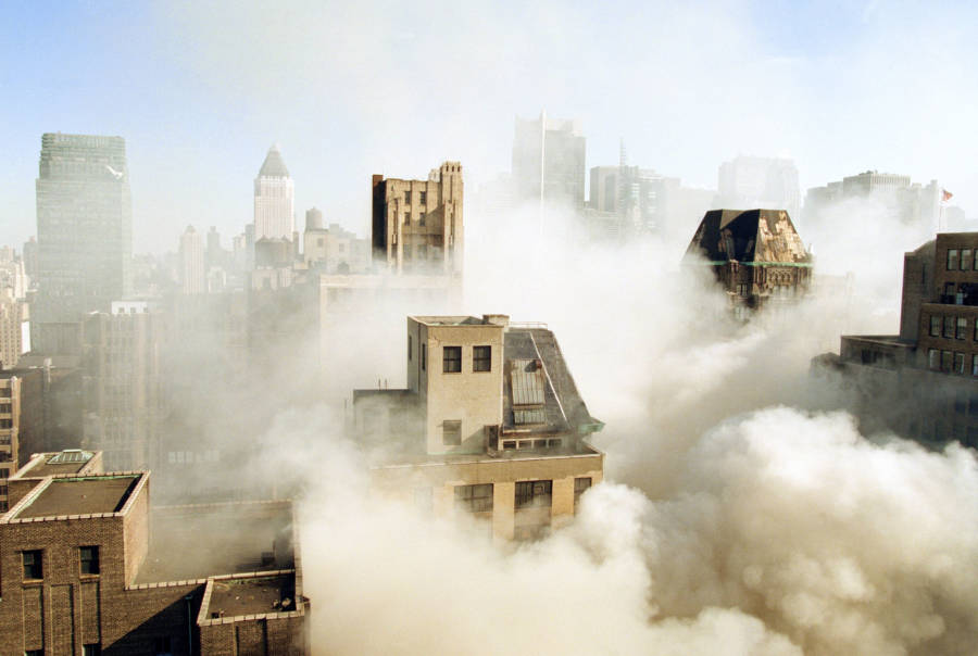 Smoke Amid Buildings