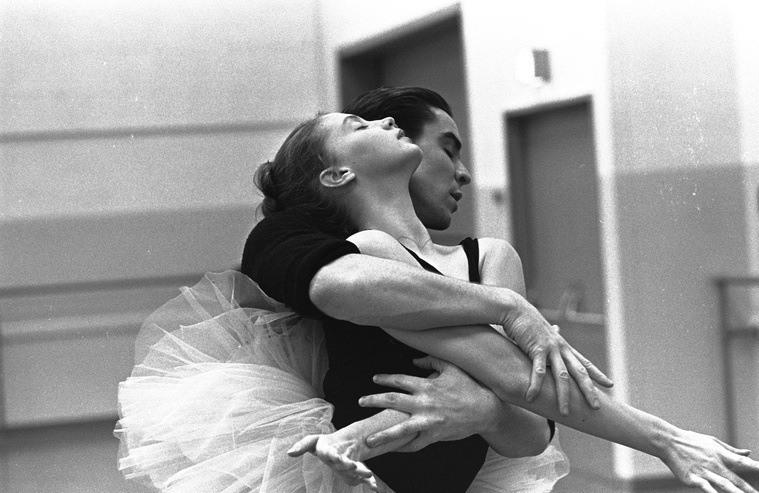 Swan Lake Rehearsal Embrace
