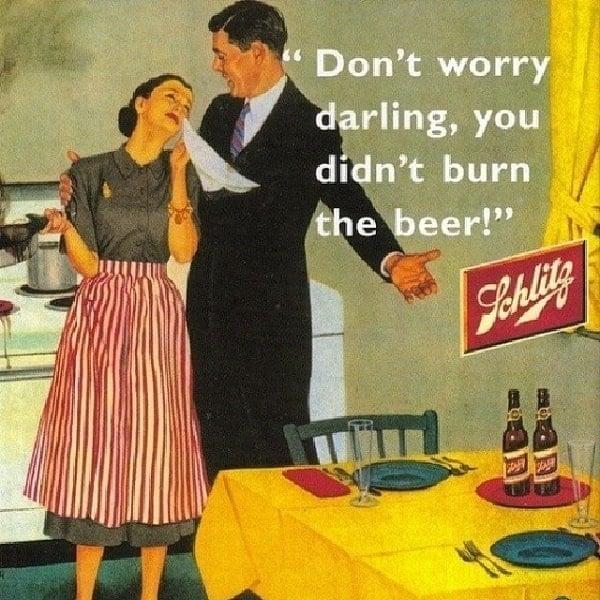 Vintage Sexist Beer Ad