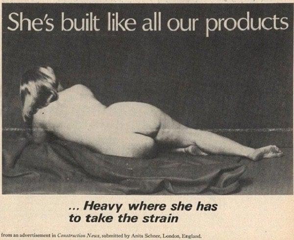 Vintage Sexist Construction Ad