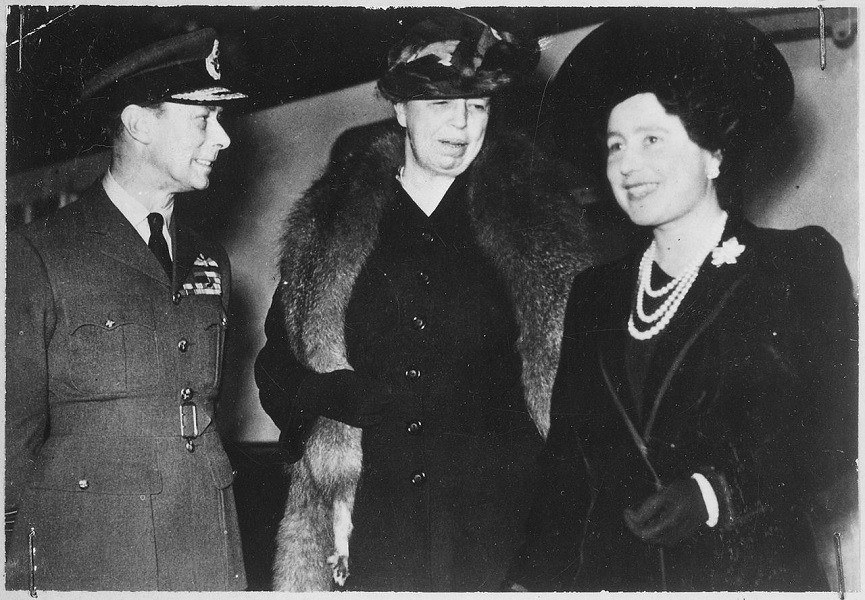 With Queen Elizabeth 1942