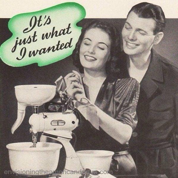 Women Love Appliances In Vintage Ad