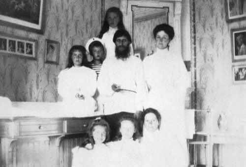 Alexandra Feodorovna with Rasputin