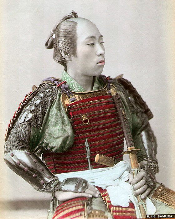 Samurai_hand_colored_c1890
