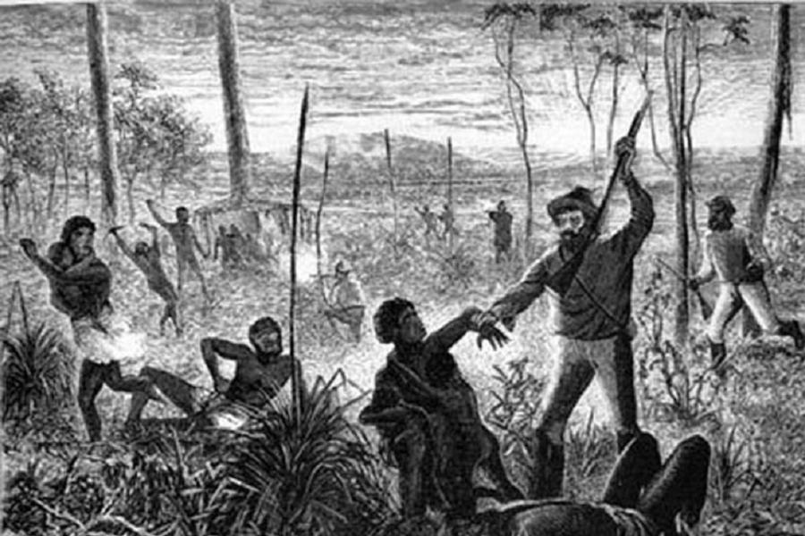 Aborigine Genocide Creek Massacre