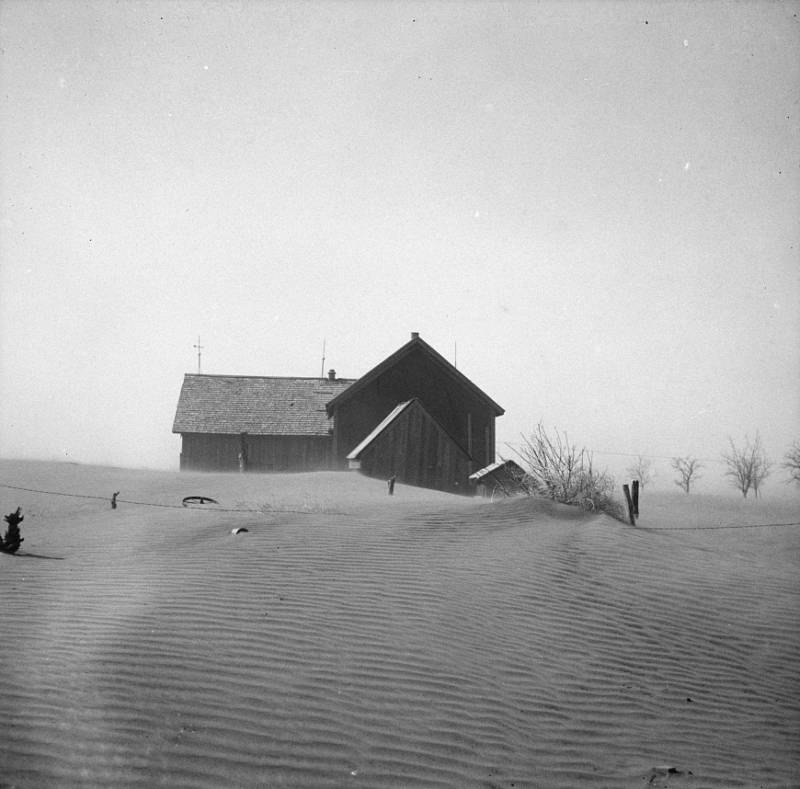 Barn Amid Dust