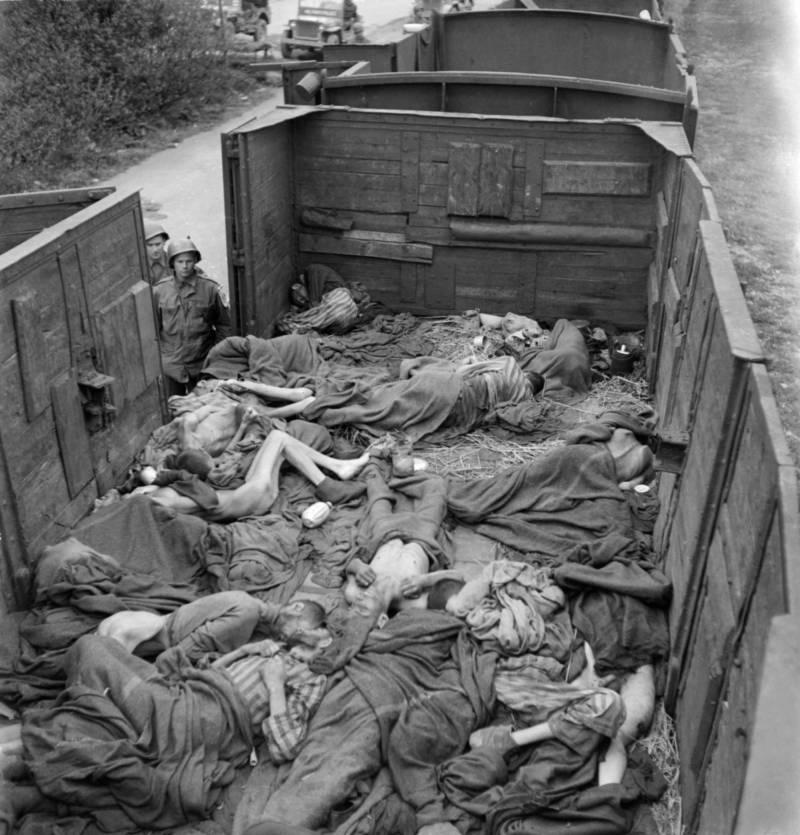 Bodies In Train Near Dachau