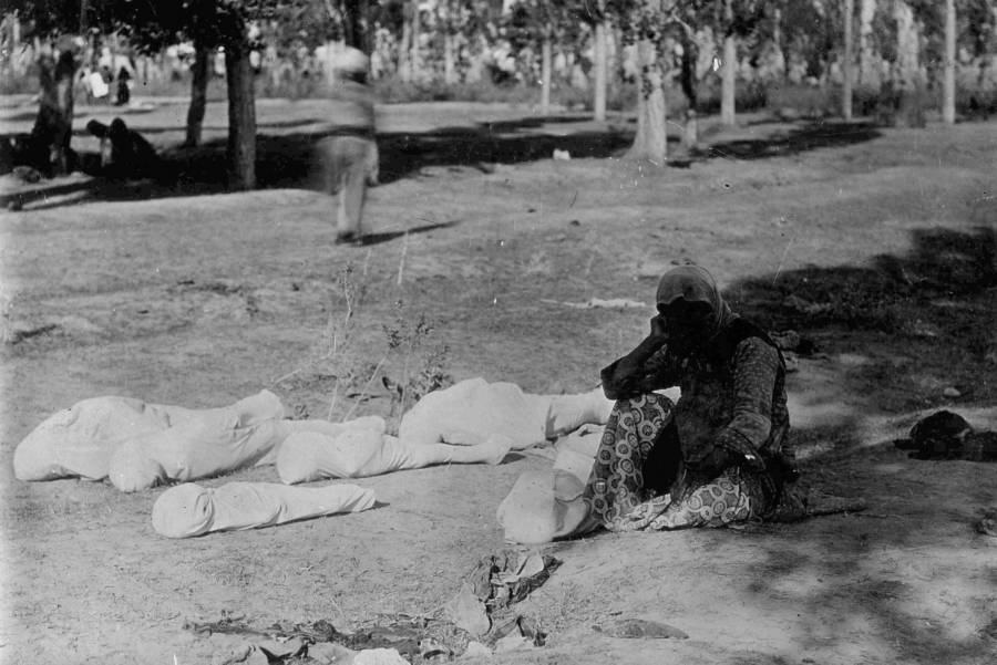 Armenian Genocide Bodies Wrapped Up