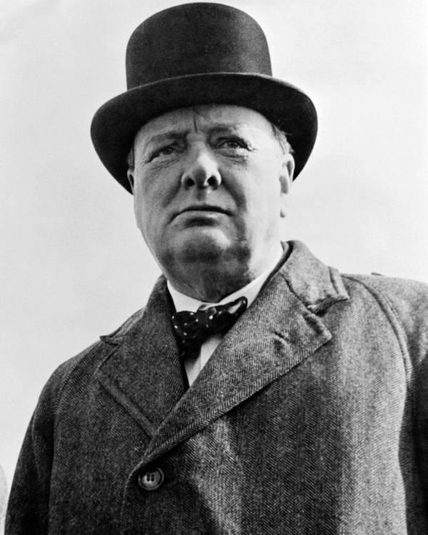 Winston Churchill Wearing A Hat