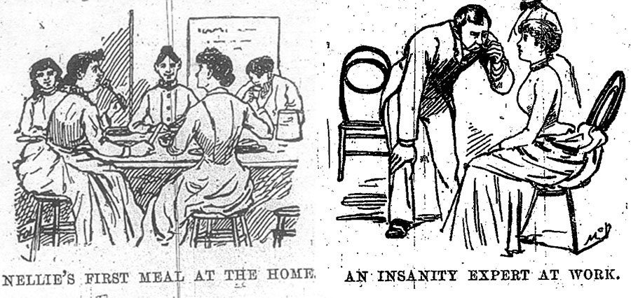 Clippings From Nellie Bly's Ten Days in a Mad House