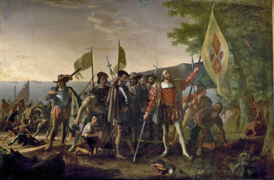 Landing of Columbus By John Vanderlyn