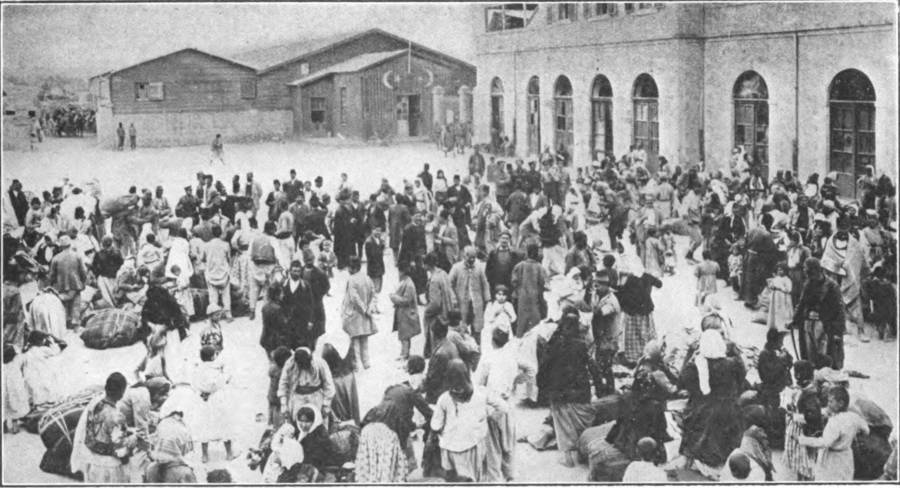 Crowd In Square