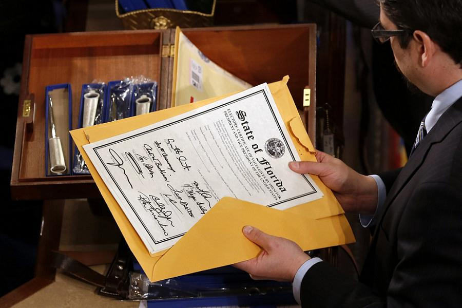 Electoral College Florida Certificate