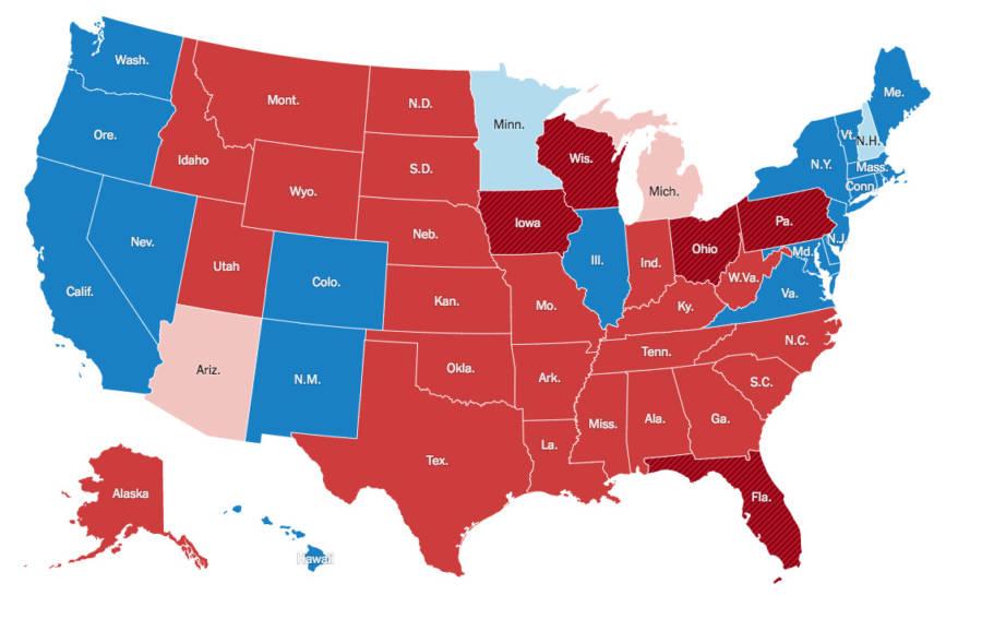 Electoral Map Actual