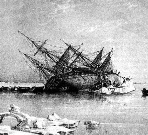 Engraving Of The Hms Terror
