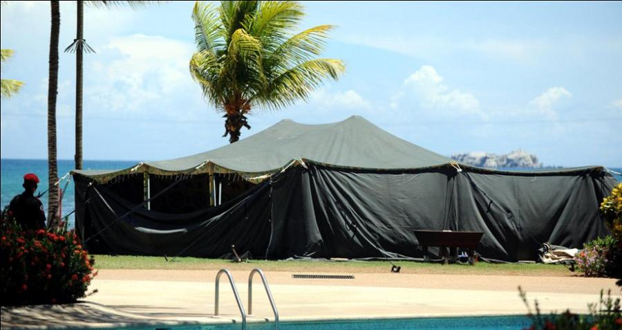 Gaddafi Tent On Vacation