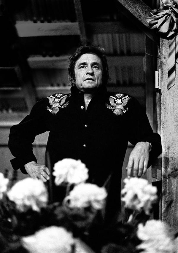 Johnny Cash Standing Flowers