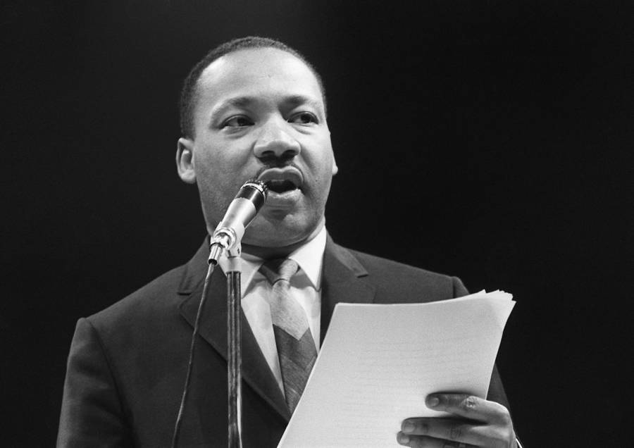 Martin Luther King Delivering A Speech