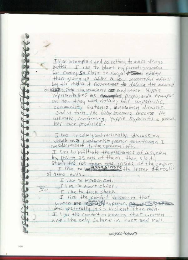 Kurt Cobain Journals 102