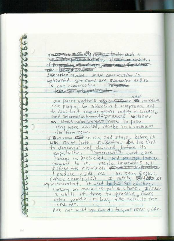 Kurt Cobain Journals 104