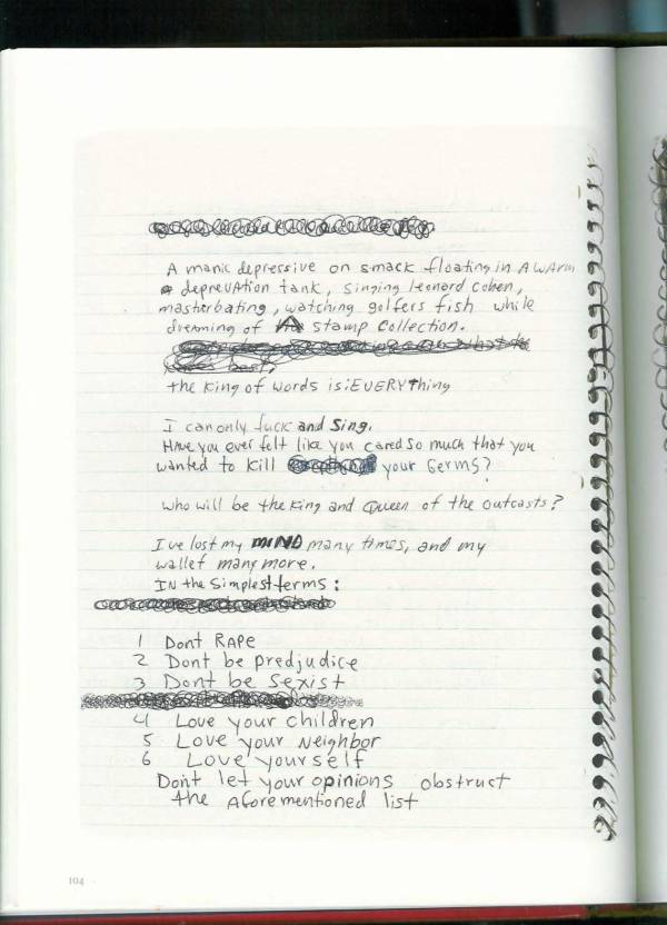 Kurt Cobain Journals 106