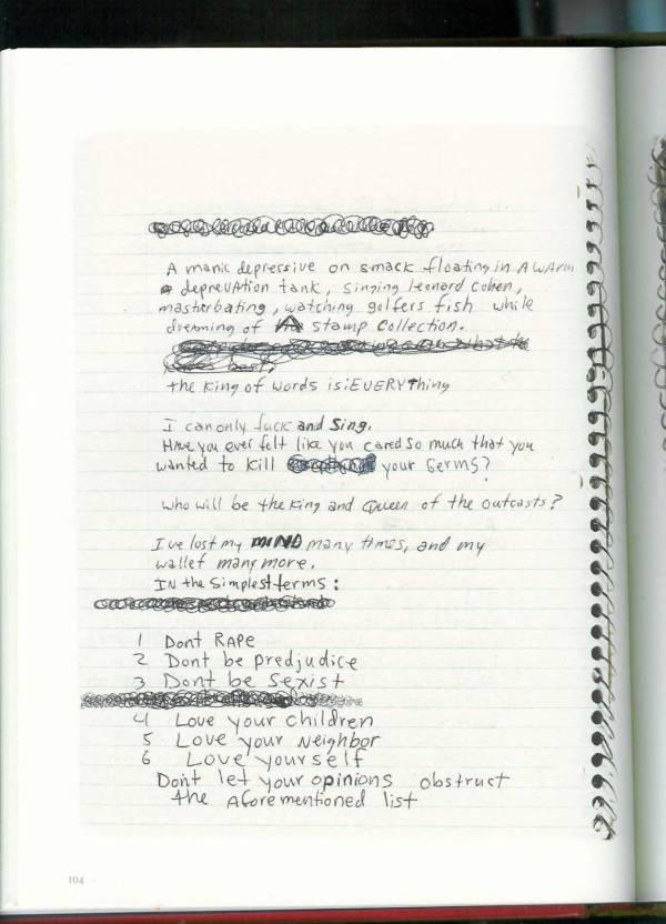 Kurt Cobain Journals 106