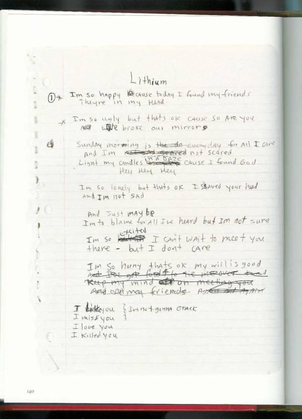 Kurt Cobain Journals 142