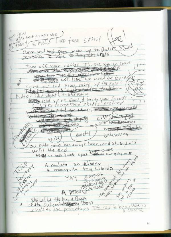 Kurt Cobain Journals 143