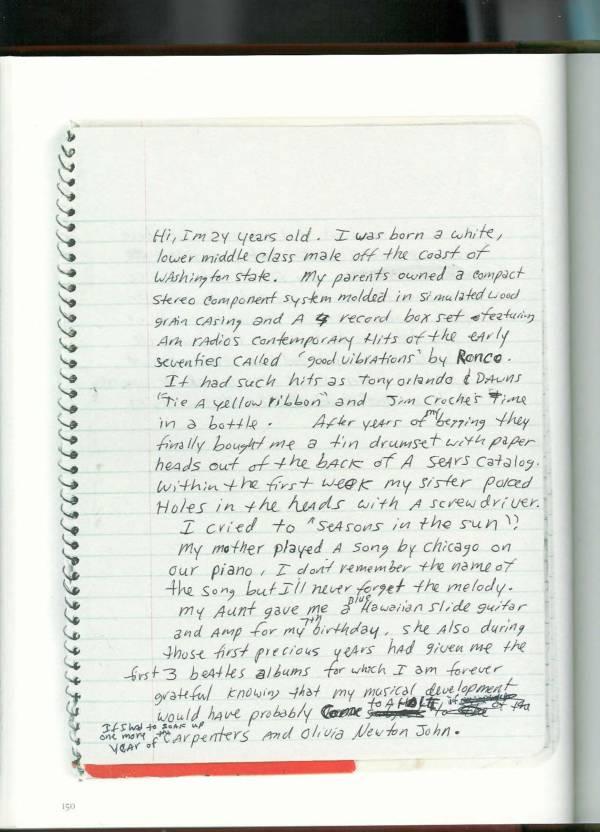 Kurt Cobain Journals 152