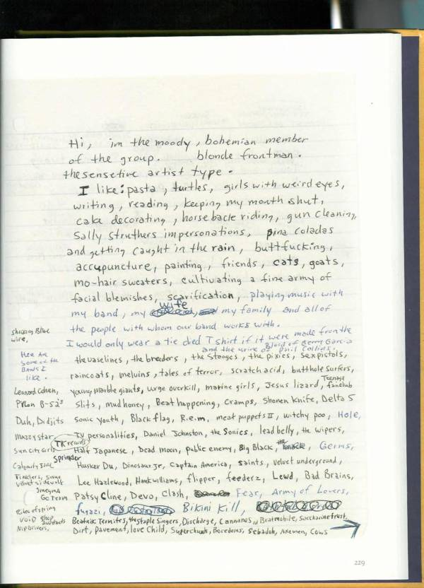 Kurt Cobain Journals 231
