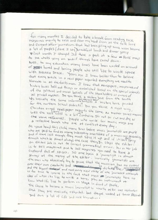 Kurt Cobain Journals 248