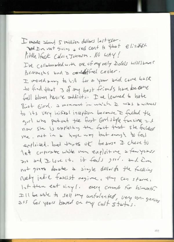 Kurt Cobain Journals 269