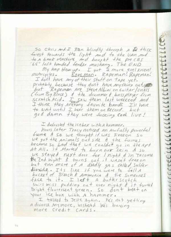 Kurt Cobain Journals 66
