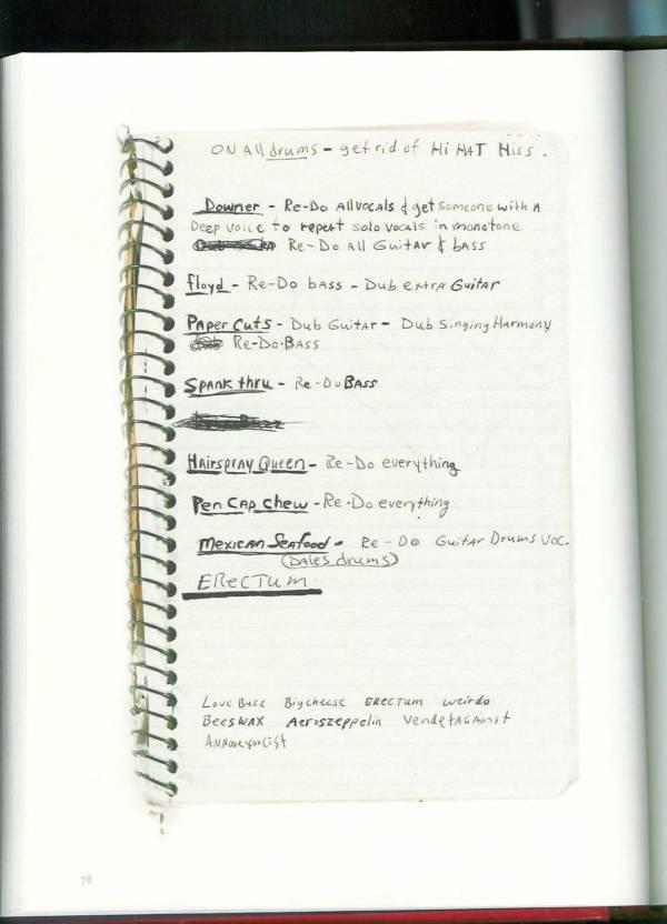 Kurt Cobain Journals 80