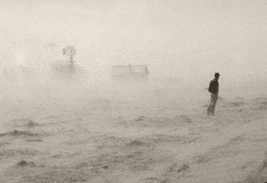 Man Standing In Storm
