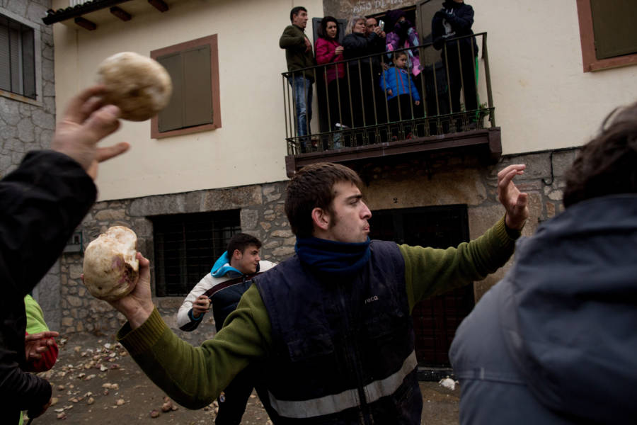 Man Throwing Turnips