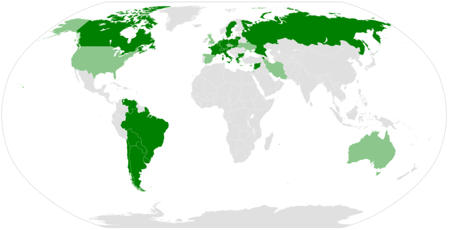 Map Of Nations That Recognize The Armenian Genocide