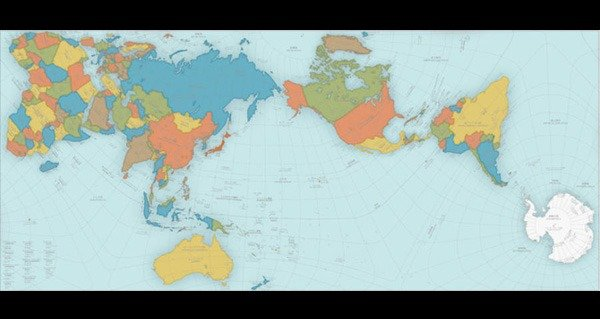 Authagraph map the worlds most map wins prestigious design award gumiabroncs Image collections