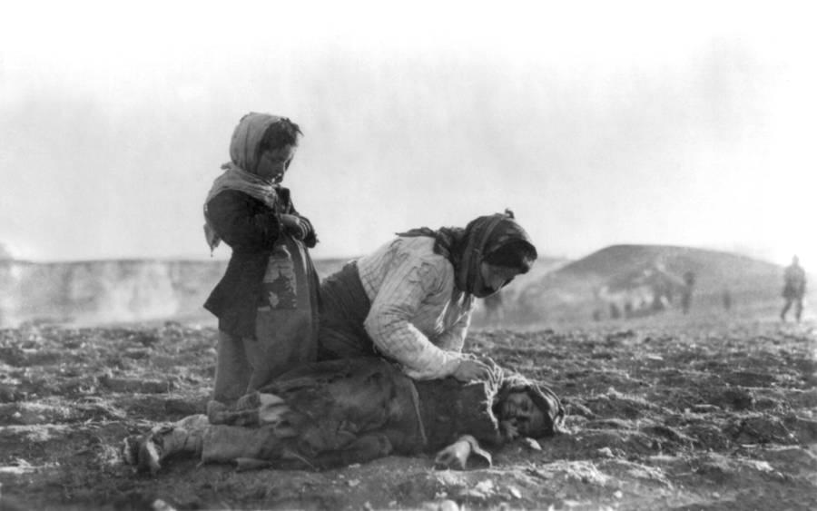 Armenian Genocide Mother Kneeling