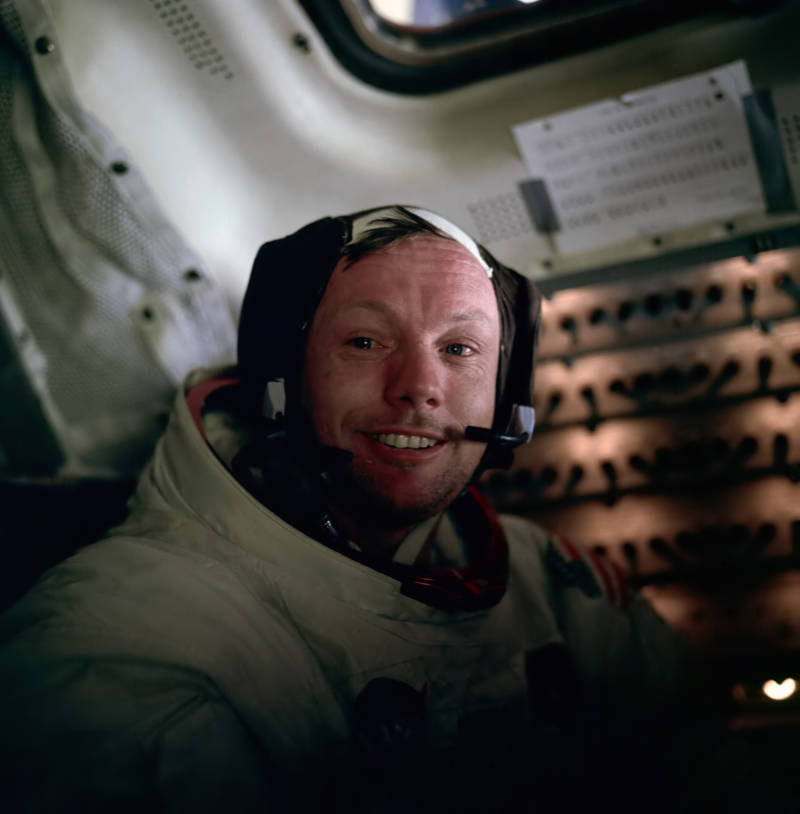 Neil Armstrong In Cabin