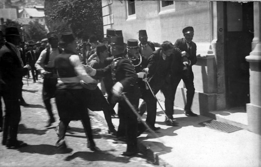 Gavrilo Princip Being Arrested