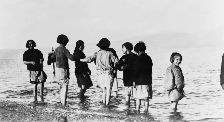 Refugees Near Sea