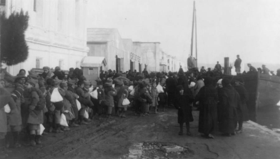 Orphans Awaiting Transport To Greece