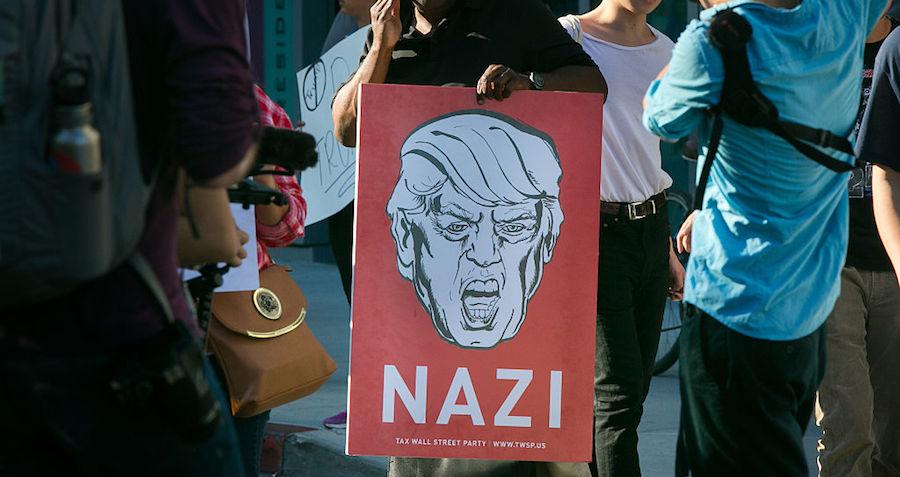 Trump Nazi Sign Red