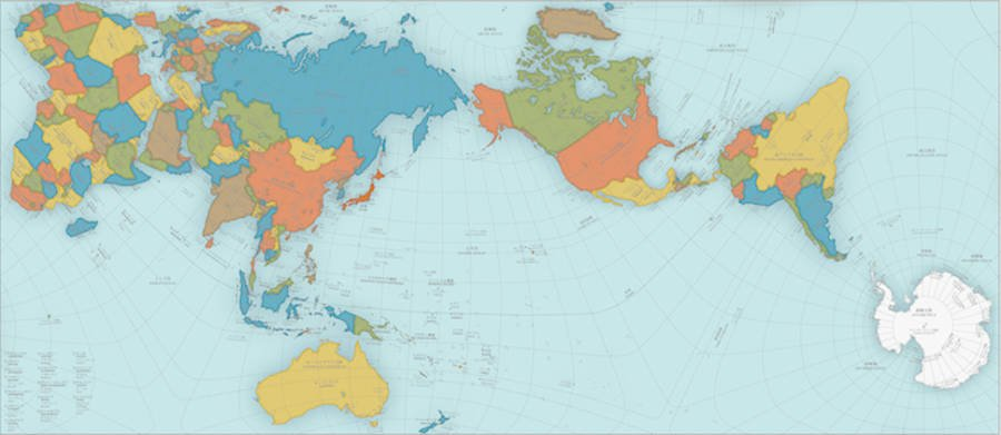 AuthaGraph Map, The World\'s Most Accurate Map, Wins ...